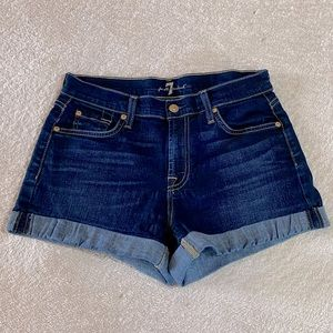 Seven For All Mankind Jean Shorts 27